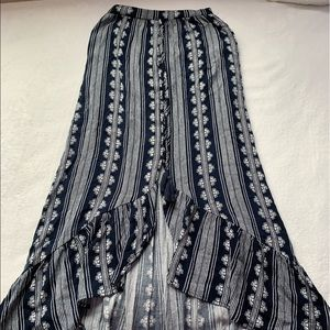 Bohemian High Low Patterned Skirt